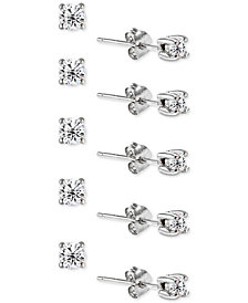 Giani Bernini 5-Pc. Set Cubic Zirconia Stud Earrings, Created for Macy's