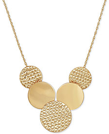 Multi-Disc Statement Necklace in 10k Gold