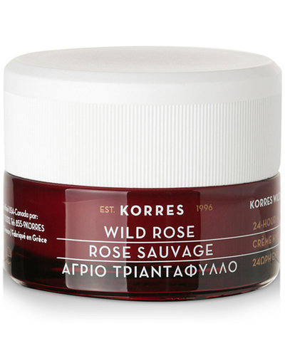 Korres Wild Rose 24-Hour Moisturising & Brightening Cream, 1.35 fl oz.