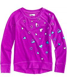Epic Threads Heart-Print Sweatshirt, Big Girls, Created for Macy's