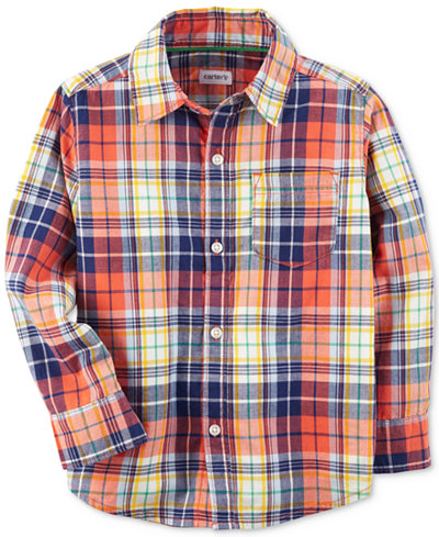 Carter's Plaid Cotton Shirt, Little Boys & Big Boys