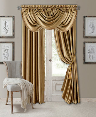 Elrene Versailles Faux Silk Room Darkening Window