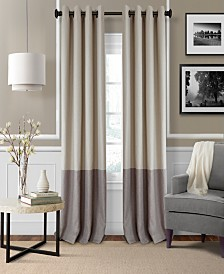 living room curtains. Elrene Braiden Blackout Colorblocked Panel Collection Living Room Curtains and Drapes  Macy s