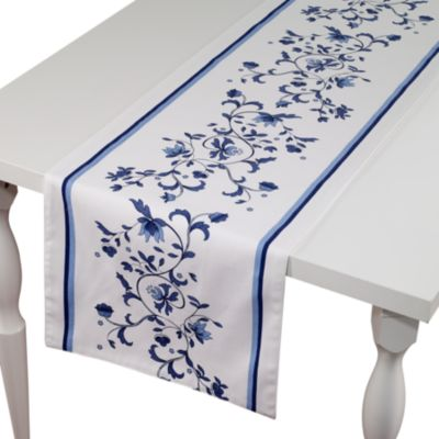 "Blue Portofino 72"" Table Runner"