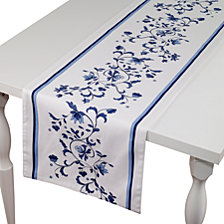 "Portmeirion Blue Portofino 90"" Table Runner"