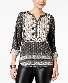 Printed Utility Top, Created for Macy's