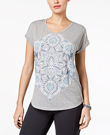 Style & Co Puffed-Print T-Shirt, Created for Macy's