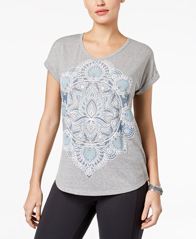 Style & Co Petite Printed V-Neck T-Shirt, Created for Macy's