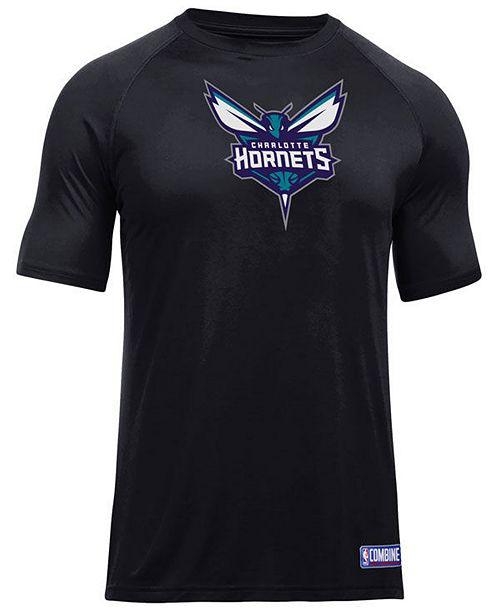 ea1a4c4c05f Under Armour Men s Charlotte Hornets Primary Logo T-Shirt   Reviews ...