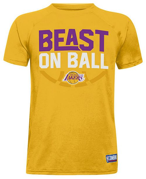 Under Armour Los Angeles Lakers Combine Beast on Ball T-Shirt, Big Boys (8-20)
