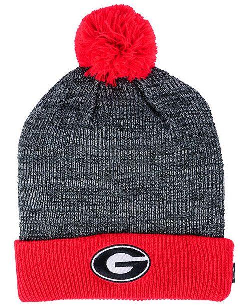 Nike Georgia Bulldogs Heather Pom Knit Hat - Sports Fan Shop By Lids ... e92545368da