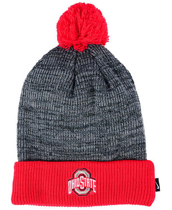 newest c27a1 3883c Image 1 of Nike Ohio State Buckeyes Heather Pom Knit Hat