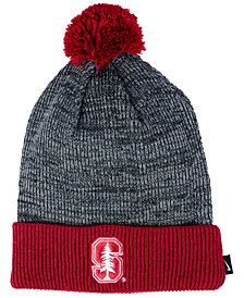Nike Stanford Cardinal Heather Pom Knit Hat