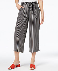 Maison Jules Striped Culotte Pants, Created for Macy's