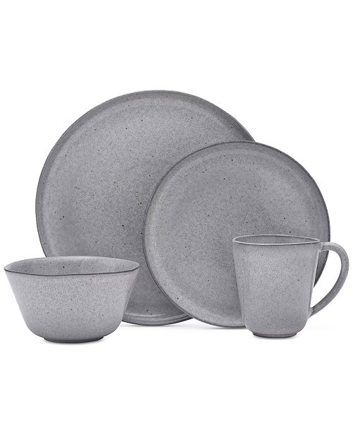 Mikasa Rowan Grey 4 Piece Place Setting
