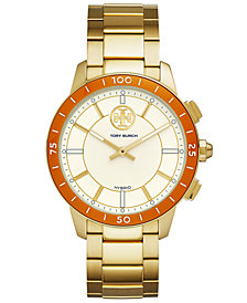 Tory Burch Women's ToryTrack Collins Gold-Tone Stainless Steel Bracelet Hybrid Smart Watch 38mm