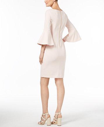 Calvin Klein Bell Sleeve Sheath Dress Dresses Women