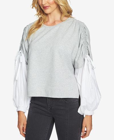 1.STATE Blouson-Sleeve Sweatshirt