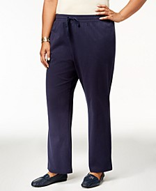 Plus Size Knit Drawstring Pants, Created for Macy's