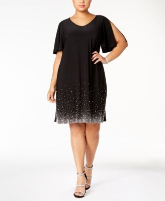 Macy's Plus Size Black Dress