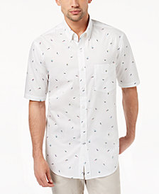 Club Room Men's Surfer Printed Shirt, Created for Macy's