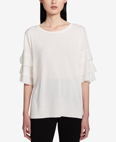 Calvin Klein Tiered-Sleeve Sweater