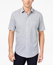 Club Room Men's Mini-Print Shirt, Created for Macy's