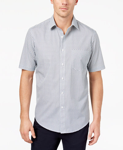 Club Room Men's Mini-Print Shirt, Created for Macy's