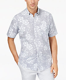 Club Room Men's Floral-Print Shirt, Created for Macy's