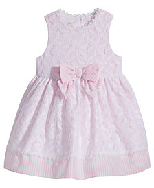 Marmellata Lace & Stripes Dress, Baby Girls