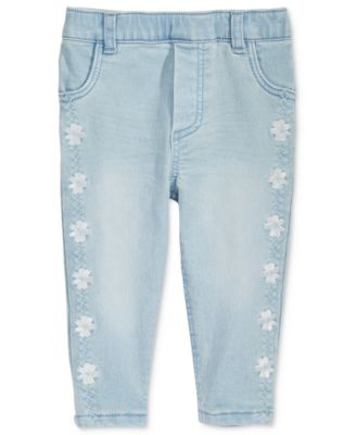 Embroidered Pull-On Jeans, Baby Girls, Created for Macy's