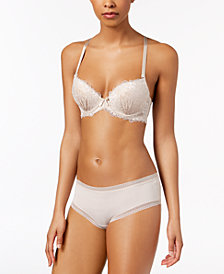 True Desire Full Package Lace Bra & Cheers Embroidered Tanga