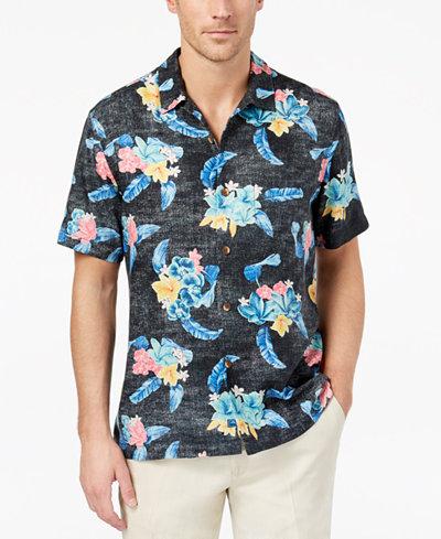 Tommy Bahama Men's Saltwater Bloom Printed Silk Shirt