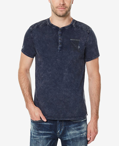 Buffalo David Bitton Men's Distressed Henley
