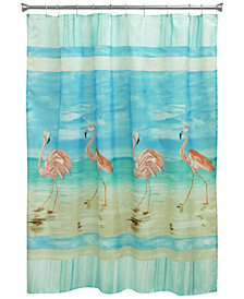 "Bacova Flamingo 70"" x 72"" Shower Curtain"