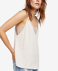 Free People Deep V Lace-Bandeau Cami