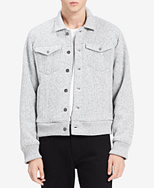 Calvin Klein Jeans Men's Bonded Fleece Trucker Jacket