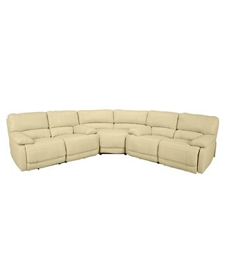 Nina Piece Leather Power Reclining Sectional Sofa With - 3 piece leather sectional sofa