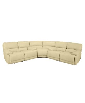 nina 3piece leather power reclining sectional sofa with 2 loveseats - 3 Piece Sectional Sofa