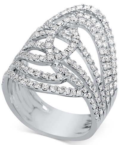 Diamond Multi-Row Statement Ring (1-1/4 ct. t.w.) in 14k White Gold