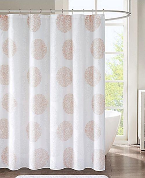 JLA Home Lisbon Medallion Print 72 X Shower Curtain