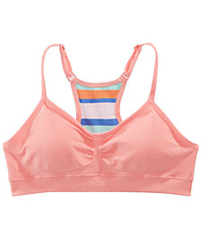 Maidenform Soothing Sea Ruched Seamless Crop Bra, Little Girls & Big Girls