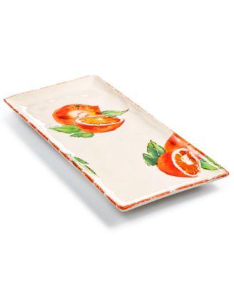 Viva by Fresh Fruit Orange Rectangular Platter, Created for Macy's