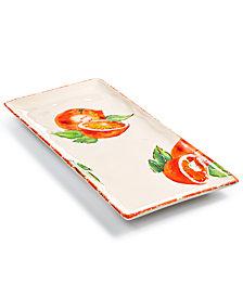 Viva by Vietri Fresh Fruit Orange Rectangular Platter, Created for Macy's