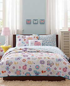 Fluttering Farrah 6-Pc. Twin Coverlet Set