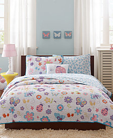 Mi Zone Kids Fluttering Farrah 8-Pc. Coverlet Sets