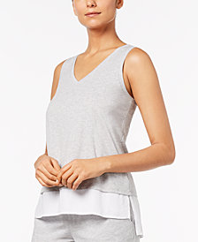 Alfani Layered-Look Pajama Tank, Created for Macy's