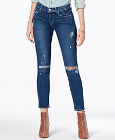 Hudson Jeans Ripped Cropped Skinny Jeans