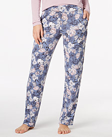 Alfani Knit Floral-Print Pajama Pants, Created for Macy's