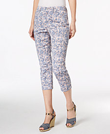 Charter Club Bristol Printed Capri Pants, Created for Macy's